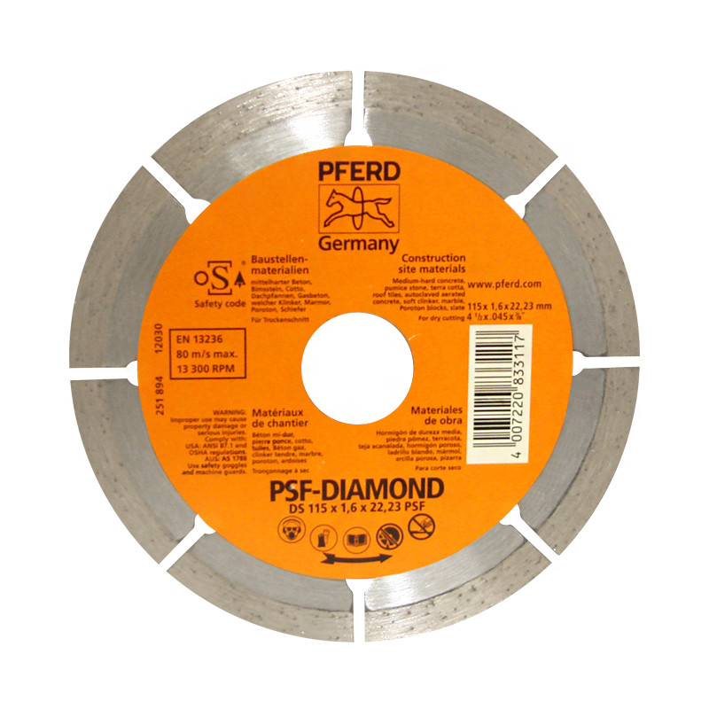 "Disco diamante 4-1/2"" x 7/8"" DS-Segmentado PFERD"