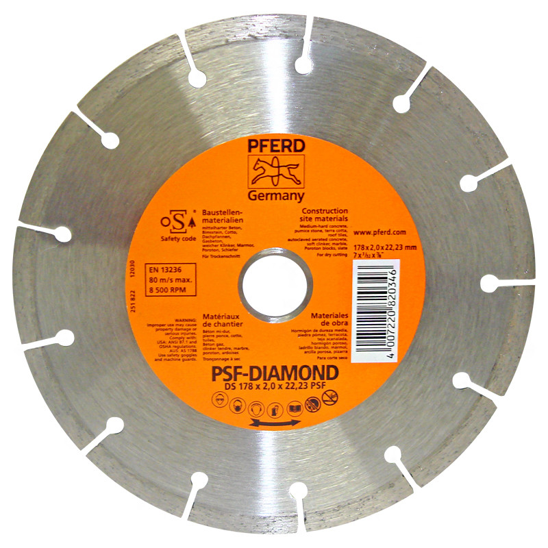 "Disco diamante 7"" x 7/8"" DS-Segmentado PFERD"