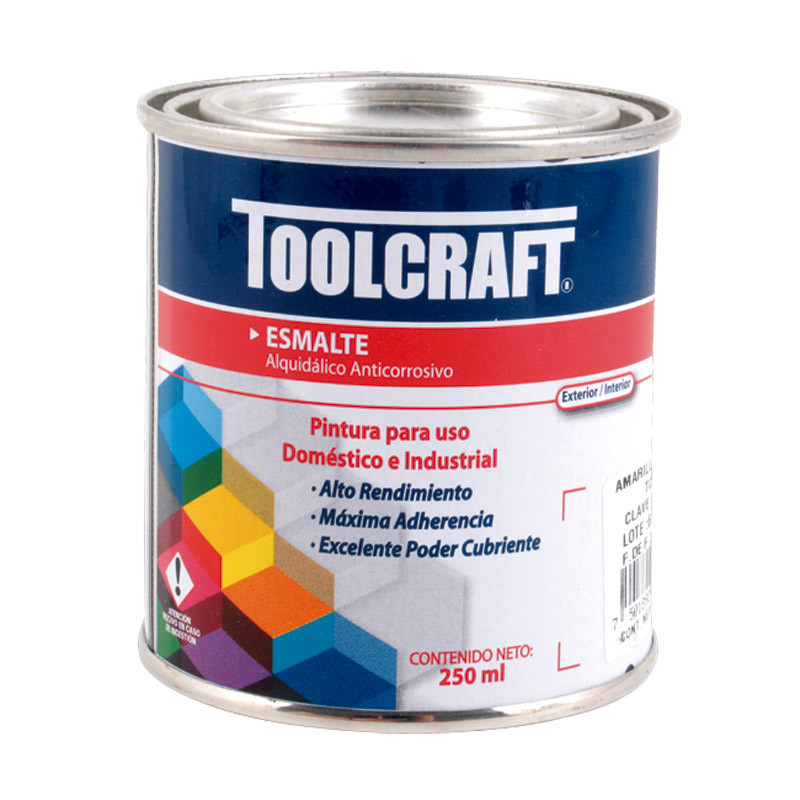 Pintura de esmalte blanco brillante 250 ml Toolcraft