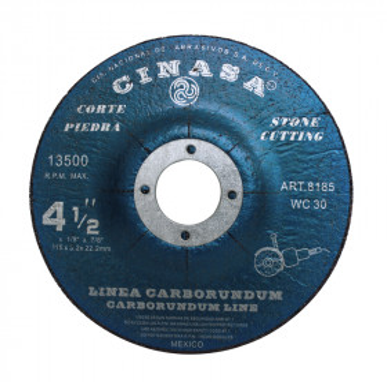 "Disco para corte de Piedra 4-1/2"" 8185 Cinasa"